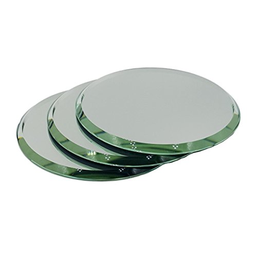 Set of 3 Beveled Round Mirrors for Your Crystal Figurines and Other Collectibles (5)