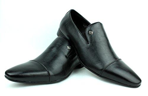 A UK Allure Mocassins Hommes 6 Cuir 11 Enfiler Habillés Chaussures Noir Italien Style BqxdROwT