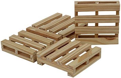 Compra SouvNear Posavasos, diseño de madera de pino – hecho a mano ...