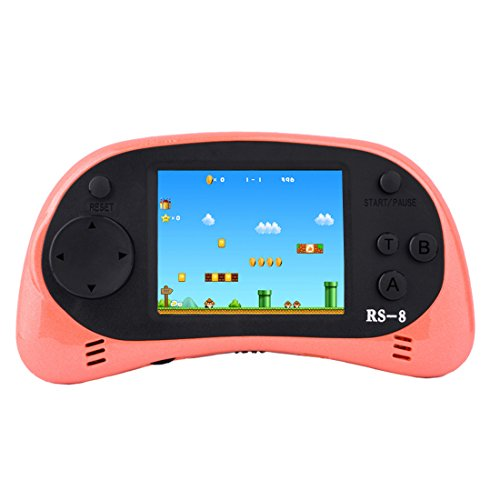 Handheld Game Console for Children Built in 260 Classic Old Video Games Retro Arcade Gaming Player Portable Playstation Boy Birthday or Christmas Gift 8 Bit Rechargeable (Orange)