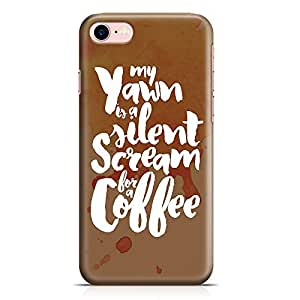 Loud Universe iPhone 8 Case Scream For Coffee Slim Profile Light weight Wrap Around iPhone 8 Cover