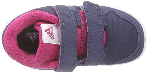 adidas LK Trainer 6 CF I - Zapatillas para niños, color negro / blanco / gris Gris / Fucsia