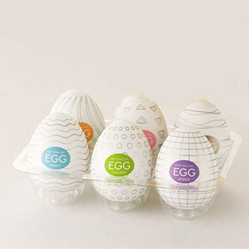 Egg airplane cup, egg men's massager, a variety of different egg yolks, stretch materials, flying general feeling (Assorted 6 color boxes)