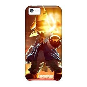 Iphone 5c IDv6426eCAx Custom Vivid Final Fantasy Ix Pictures Shock-Absorbing Hard Phone Cover -MansourMurray