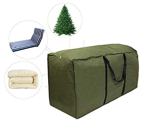 skyfiree Patio Cushion/Cover Storage Bag Rectanglar with Zippers and Handles 68 L x 30 W x 20 H Inch Waterproof Cover Furniture Storage Bag (Christmas Patio Tree Furniture)