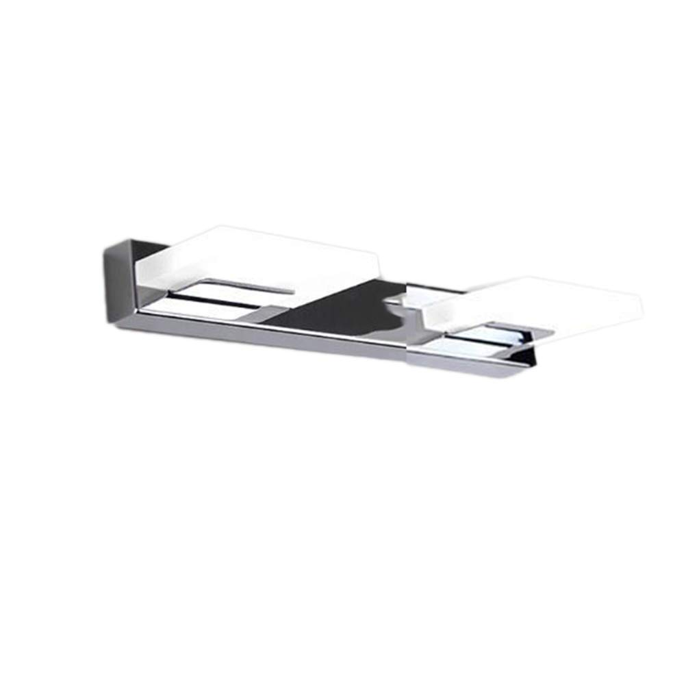 LEDMOMO 6W Bathroom Vanity Light Modern Minimalist LED Acrylic Stainless Steel Mirror Front Lamp Bathroom Vanity Toilet Wall Lights - White Light (2 Lights)