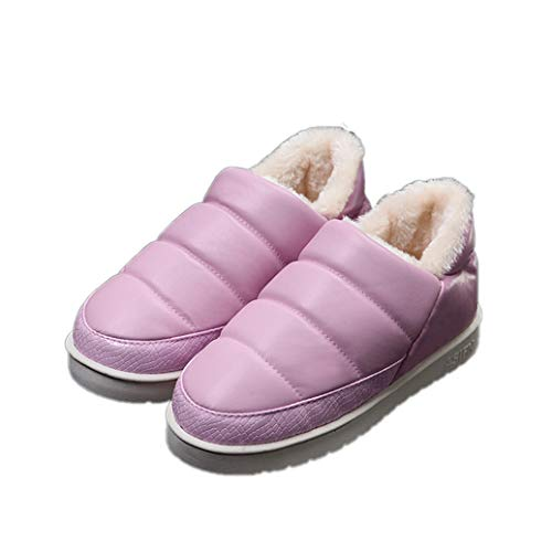 (Genepe Thick Velvet Unisex Women Cotton Shoes Slippers Slippers Hair Ladies Men Winter Non-Slip Cute Floor Soft Plush Indoor Slippers Female)