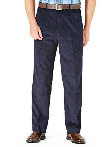 Navy Corduroy Trousers - 1