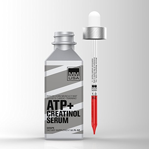 ATP (Adenosine Triphosphate) Creatinol Serum by MMUSA, Pre Workout for Energy + Strength, Joint Protection, Stamina and Builds Lean Muscle Mass. Glucosamine Sulfate. Anti inflammatory.