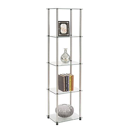 Review Convenience Concepts 5-Tier Glass Tower By Convenience Concepts by Convenience Concepts