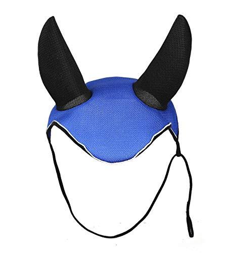 (CatYou Horse Ear Net Mask Soft Breathable Meshed Ear Cover Hood Ear Protector Bonnet Equestrian (Blue(Main)))