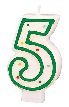 Números de 5 verde de velas de cumpleaños: Amazon.es ...