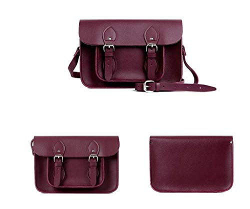 Portable Bag winered Color Square Single Pu Small Retro Ddhzta Pure Mini Lady Shoulder Slung q7zOzW