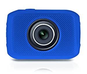 Pyle PSCHD30BL Mini High-Definition Sports Action Wide-Angle HD Camera & Camcorder, 720p, SD Card Slot, Touchscreen (Blue)