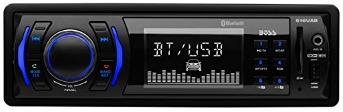BOSS Audio 616UAB Single Din, Bluetooth, MP3/USB/SD AM/FM Car Stereo, Wireless Remote (1982 Mercedes 300td)
