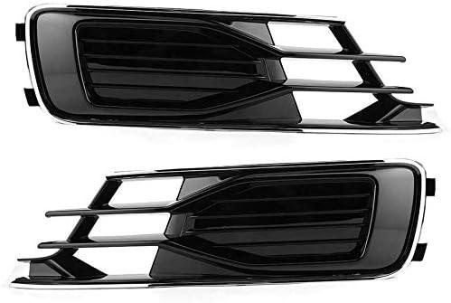 フォグライトグリル に適用する A6 C7.5 2016年から2018年4G0807647T94 4G0807648T9フォグランプグリルブラックカーアクセサリーフォグランプグリルのためのペア左右フォグランプグリルフィット フォグライトフレーム