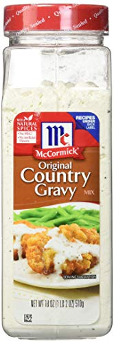 McCormick Country Gravy Seasoning (No MSG, Dry Gravy Mix, Holiday Gravy), 18 oz ()