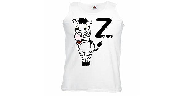 Camisa del músculo Tank Top Z AS Zebra Zebra Feliz Grevyzebra Cebra de montaña ESTEPA Zebra Caballo Salvaje Caballo Manga en Blanco: Amazon.es: Ropa y accesorios