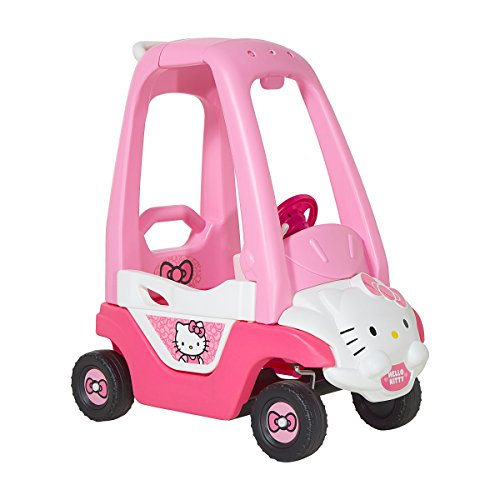 Hello Kitty Car (Hello Kitty Push N Play Ride-On, Pink/White/Black)
