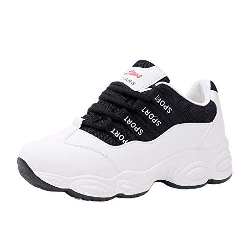 ashion Sneakers, Slip-On Lightweight Casual Walking Shoes Gym Breathable Mesh Sports Shoes Black ()