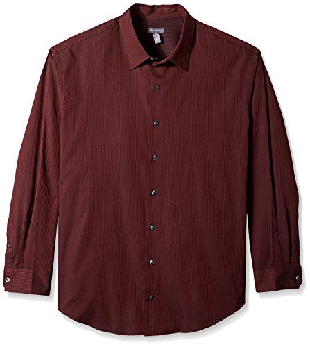 Van Heusen Men's Tall Long Sleeve Stripe Sateen Shirt, Corazon, 3X-Large Big