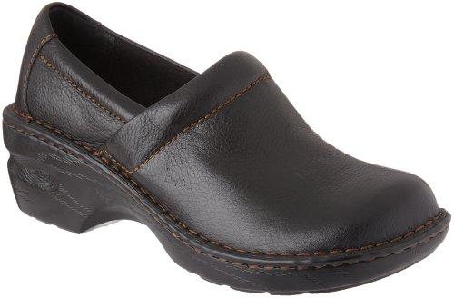 B.O.C. Born Peggy Slip-On Comfort Mules, Black Leather, 7.5 US / 38.5 EU