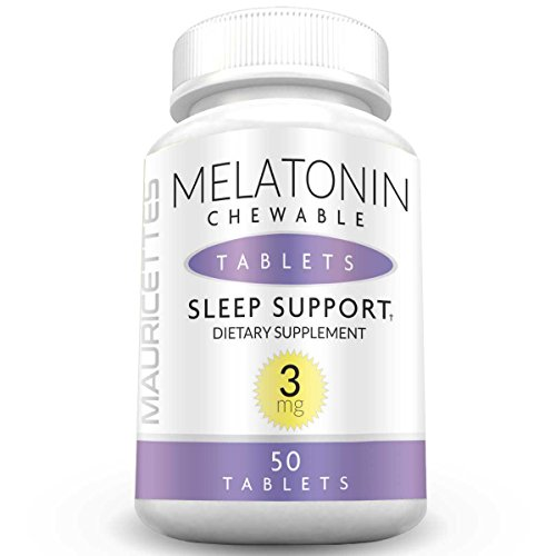 Melatonin 3mg Chewable Tablets Unflavored Sleep Aid for Fast Sleep Support - Mauricettes