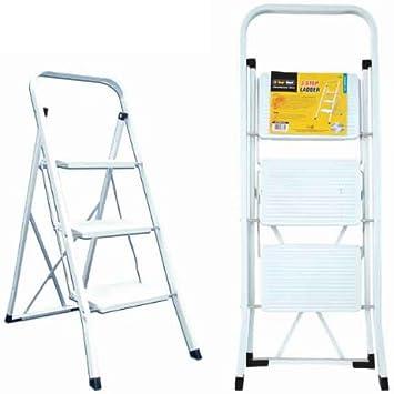 Tool Tech 68470 - Escalera plegable (3 peldaños): Amazon.es: Bricolaje y herramientas
