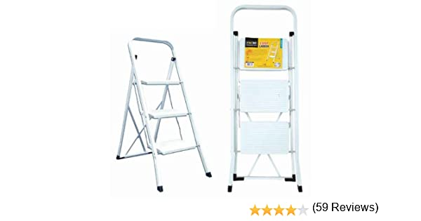 Tool Tech 68470 - Escalera plegable (3 peldaños): Amazon.es ...