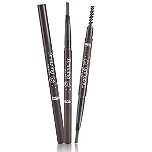 Levieya Brand Eyebrow Pencil, Waterproof and Double-ends With Brush (5 Colors: Black, Brown, Light Brown, Dark Brown, Grey)