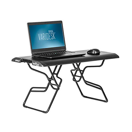 (VARIDESK - Height Adjustable Portable Standing Desk for Small Spaces - Laptop 30)