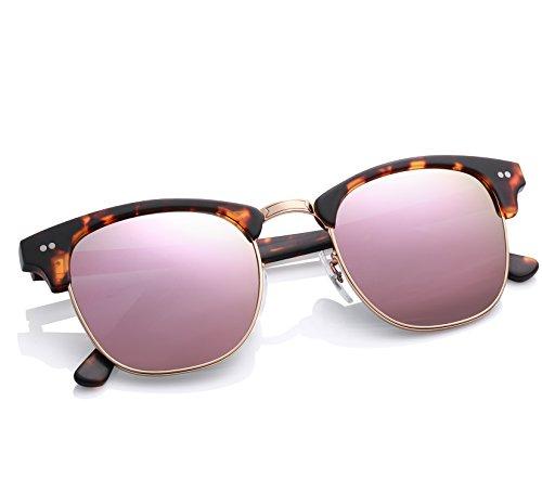 0675bce50dc Carfia CA5109 Semi Rimless Non-Polarized Sunglasses for Women Men ...