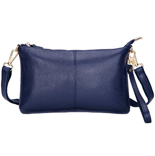 Ladies Phone Shoulder Fashion Pouch Evening Dress Casual Envelope Bag Cell Blue Bag Wristlet Clutch Crossbody ZZUd7qWwr
