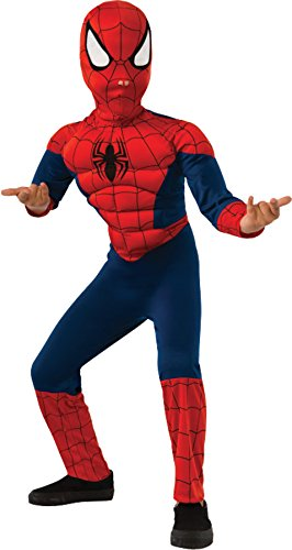 Rubie's Marvel Ultimate Spider-Man Deluxe Muscle Chest Costume, Child Medium - Medium One Color ()