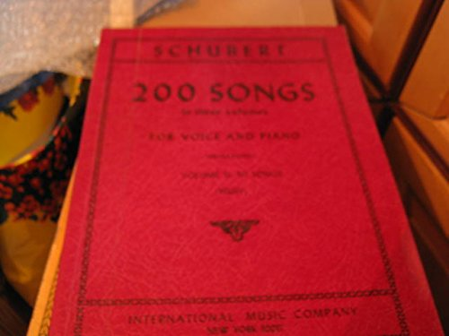 (Schubert: 200 Songs in 3 volumes, High Voice (For Voice and Piano, Volume II: 50 Songs))