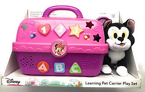Disney Electronic Pet Carrier and Figaro Plush – Teaches Colors, Numbers, Letters, Shapes with Fun Sounds!