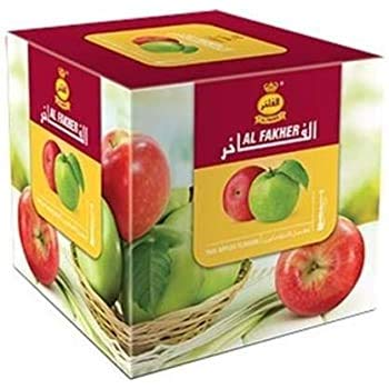 AL-Fakher Two Apple Premium Flavour/Shisha 1-KG for Hookah/Hukka/Hookha, with Free Charcoal