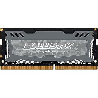 Crucial Ballistix Sport LT 2666 MHz DDR4 DRAM Laptop Gaming Memory Single 8GB CL16 BLS8G4S26BFSDK (Gray)