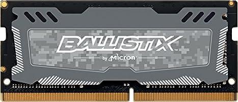 Ballistix Sport LT 8GB Single DDR4 2666 MT/s (PC4-21300) SR x8 SODIMM 260-Pin - BLS8G4S26BFSDK (Gray)