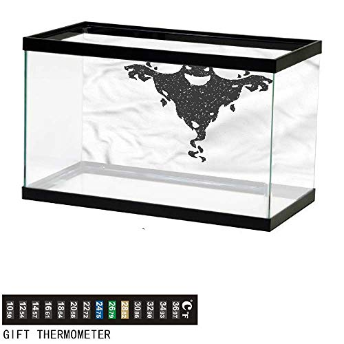 Suchashome Fish Tank Backdrop Scary,Halloween Black Ghost Spooky,Aquarium Background,24