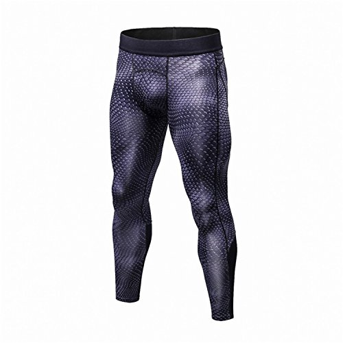 MZjJPN Men Fashion Elasticity Pants Quick Dry Skinny Leggings Tights Fitness Pants Stitching Trousers color1 M (Cw Running Tights)