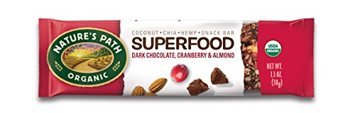 (Nature's Path Organic Qi'a Gluten-Free Superfood Snack Bar, Dark Chocolate/Cranberry/Almond, 6 Count)