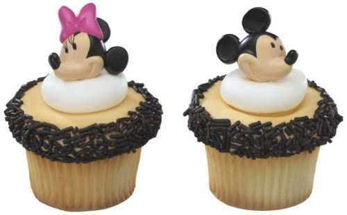 CakeDrake BULK 144 MICKEY Mouse MINNIE Party CUPCAKE Favor RINGS or PICKS Pics Your Choice (Minnie Mouse Pics)