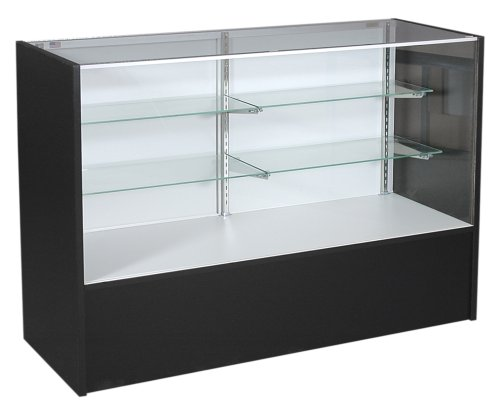 (KC Store Fixtures 16307 Full Vision Showcase, 70-Inches Wide, Black)