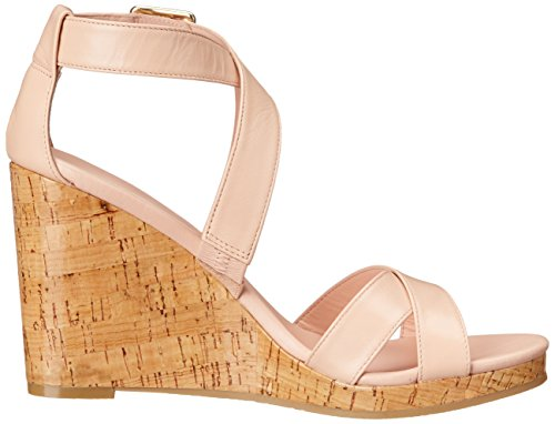 Cole Haan Femmes Jillian Wedge Wedge Sandale Canyon Rose En Cuir