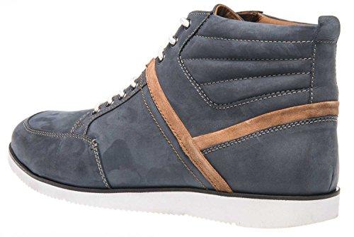 de Manz Pour Homme Ville Bleu Lacets à Chaussures Foncé Bleu 5gqn7agf