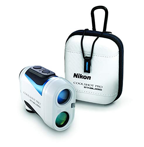 Nikon Coolshot Pro Stabilized Golf Rangefinder with Exclusive Deluxe Hard Shell Case