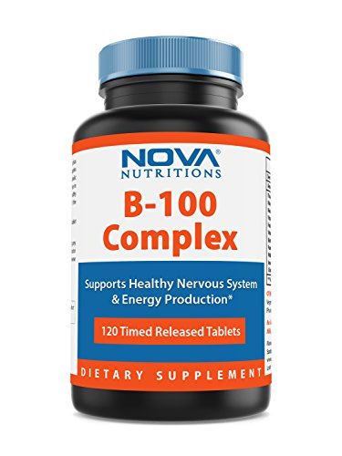 Nova Nutritions B-100 Vitamin B Complex 120 Time Released Tablets by Nova Nutritions