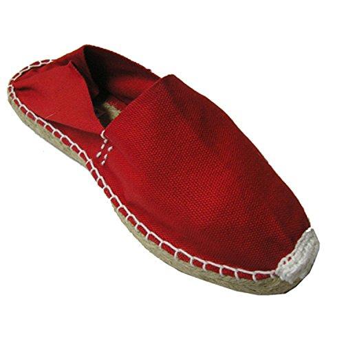 in Alpargatas esparto Spain Made rosso piatta HtZ0tw