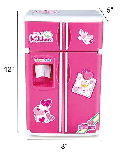 Dream Kitchen Toy: Liberty Imports Dream Kitchen Mini Refrigerator Pink Toy